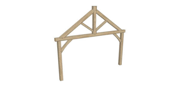 King Post Truss - Hardwoods Group