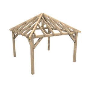 Oak Framed Gazebo - Hardwoods Group