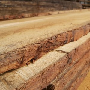 Air Dried Waney Edge Joinery oak - Hardwoods Group