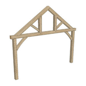 Queen Post Truss - Hardwoods Group